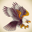 Stock Vector: Eagle old-school tattoo