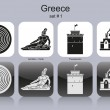 Stock Vector: Icons of Greece