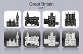 Icons of Great Britain — Wektor stockowy