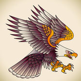 Eagle old-school tattoo — Stock Vector