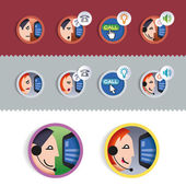IP-communication icons — Stock Vector