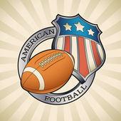 Us-amerikanischer american-football-abzeichen — Stockvektor