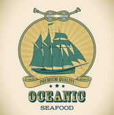 Vintage label - Oceanic — Stock Vector