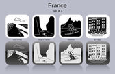 Icons of France — Stock Vector