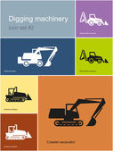 Digging machinery — Stock Vector