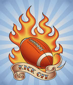 American football tattoo — ストックベクタ