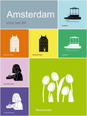 Icons of Amsterdam — Stock Vector