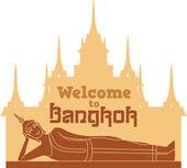 Welcome to Bangkok — Stok Vektör