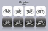 Various bicycles — Vector de stock
