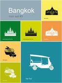 Icons of Bangkok — Stock Vector