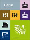 Berlin icons — Stock Vector