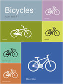 Various bicycles — Stockvektor