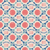 Bowling club pattern — Stock Vector