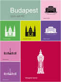 Icons of Budapest — Stock Vector