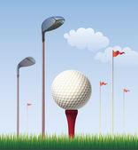 Tee Golf topu — Stok Vektör
