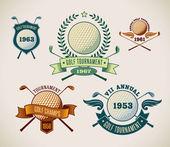 Golf labels — Stock Vector