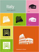 Icons of Italy — Stock Vector