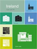 Icons of Ireland — Stock Vector