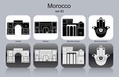 Icons of Morocco — Stock Vector