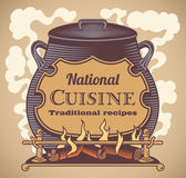 Traditional cuisine label — Stock Vector