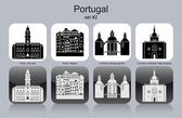 Icons of Portugal — Stock Vector