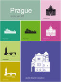 Icons of Prague — Stock Vector