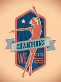 Champions We Are — Stock Vector