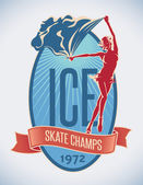 Figure skate champs — Stok Vektör