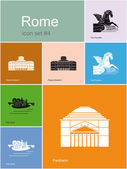 Icons of Rome — Stock Vector
