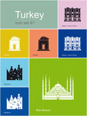 Icons of Turkey — Stock Vector