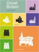 Icons of Great Britain — Stock Vector