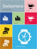 Icons of Switzerland — Stock Vector