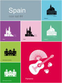 Icons of Spain — Stock Vector