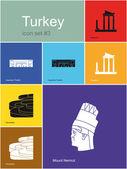 Icons of Turkey — Stock Vector