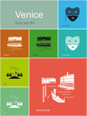 Icons of Venice — Stock Vector
