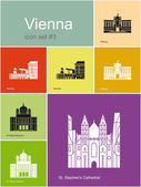 Icons of Vienna — Stock Vector