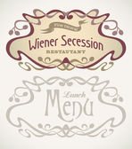 Secession styled labels — Stock Vector
