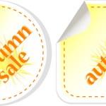 Autumn sale stickers set. vector — Stock Vector #12713420