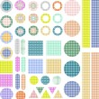 Set of scrapbook design elements - frames, buttons — Imagens vectoriais em stock
