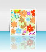 Design background of spring flowers brochure. Birthday, easter — Stock Vector