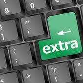 Teclado con palabra extra - concepto del negocio — Vector de stock