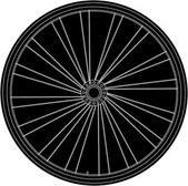 Conceptual abstract bike wheel — Stock Vector
