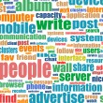 Business. ordet collage på vit bakgrund — Stockvektor