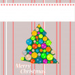 Merry christmas postcard - holiday theme — Stock Photo
