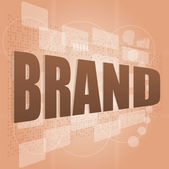 Brand concept in word tag cloud, business concept — Stock Photo
