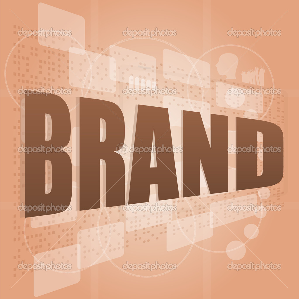Brand concept in word tag cloud, business concept — Stock Photo #14367809
