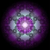 Kaleidoscope made from a fractal design — Stock Vector