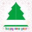 Christmas tree applique background — Foto Stock