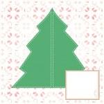 julkort. julgran. nytt år-konceptet — Stockfoto