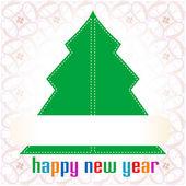 Christmas tree applique background — Stock Photo